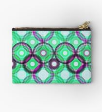 Circles | green and purple  Studio Pouch