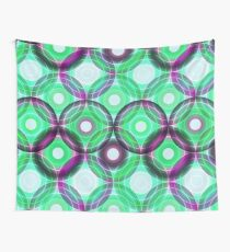 Circles | green and purple  Wall Tapestry