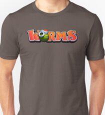 worms game gaming nerd geek typography Unisex T-Shirt