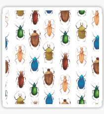 Summer mood. Watercolor tropical bugs Sticker