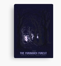 Visit The Forbidden Forest Canvas Print