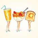 Breakfast Pin-Ups by Kelly  Gilleran