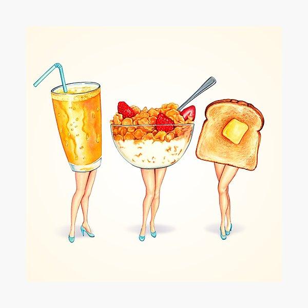 Breakfast Pin-Ups Photographic Print