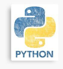 Retro Python Programmer Canvas Print