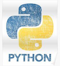 Retro Python Programmer Poster