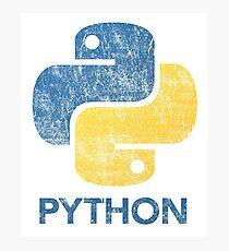 Retro Python Programmer Photographic Print