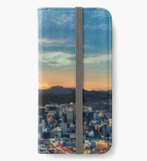 High View of Seoul During Sunset iPhone Wallet/Case/Skin