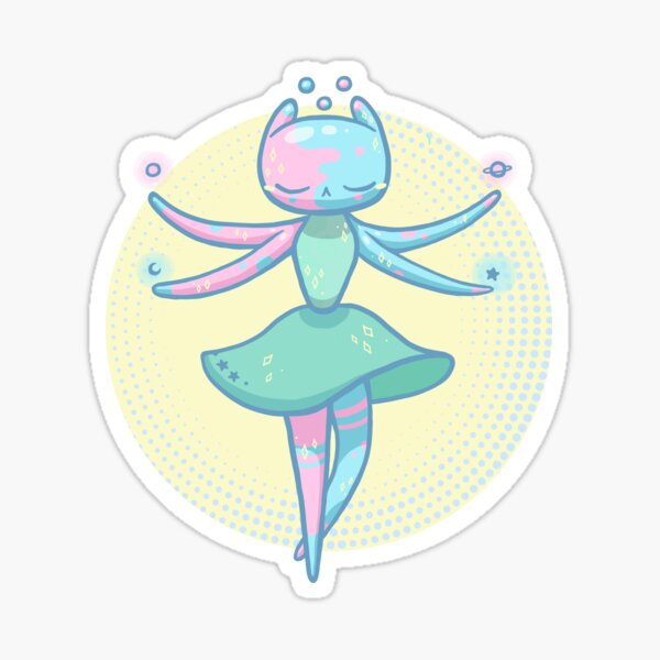 ï &ü - Space jelly aliens III - Slime Kawaii Sticker