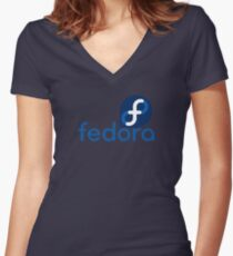 Fedora Women's Fitted V-Neck T-Shirt