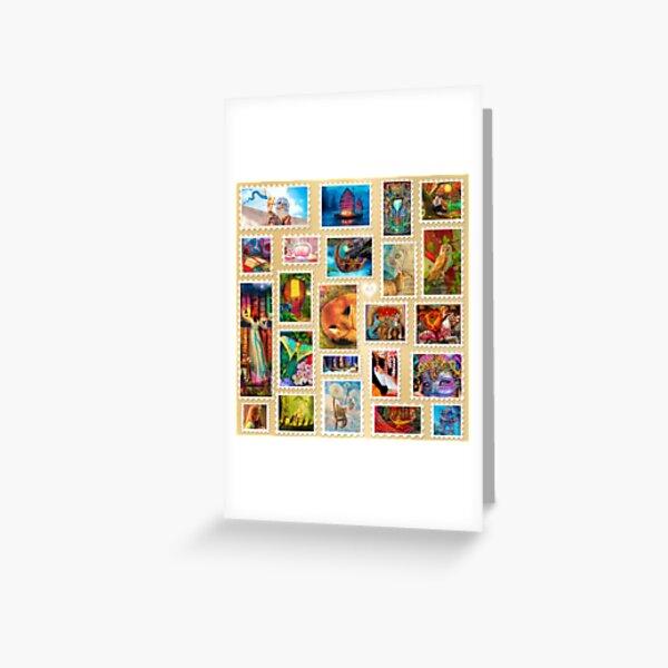 Aimee Stewart Stamp Sampler Greeting Card