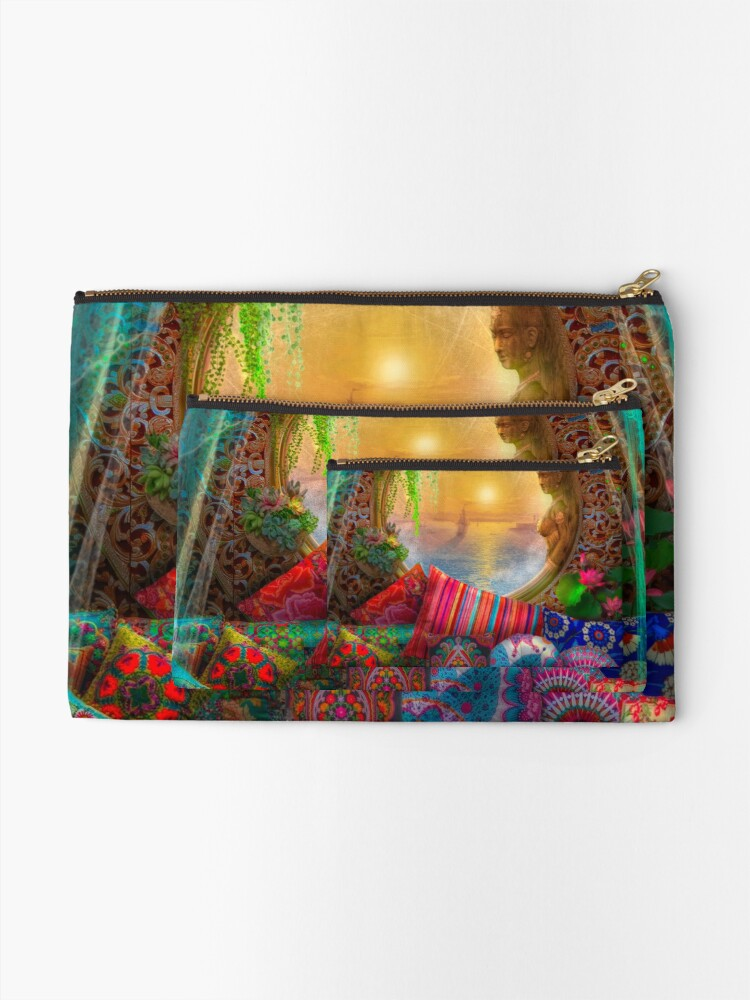 Alternate view of Oasis Zipper Pouch