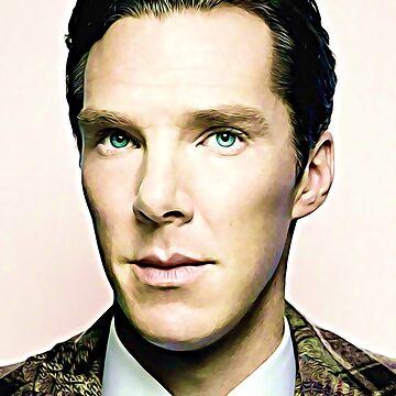 Portrait of Ben Acrylic Style by ledbytheunknown
