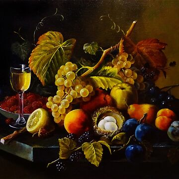 Fruit Still Life Experience (Roesen replica) by Lvova