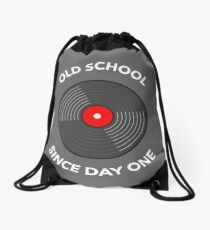 Old School Since Day One Drawstring Bag