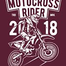Motocross Rider Motorcycle Vintage T-shirt by artbaggage