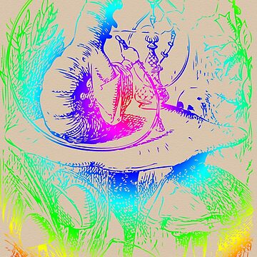 Psychadelic Mushroom Alice in Wonderland by Archpress