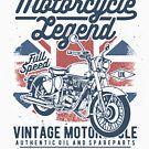 Vintage Motorcycle Legend Biker T-shirt by artbaggage