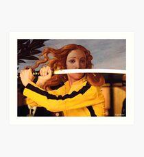 Lámina artística Venus de Botticelli y Beatrix Kiddo en Kill Bill