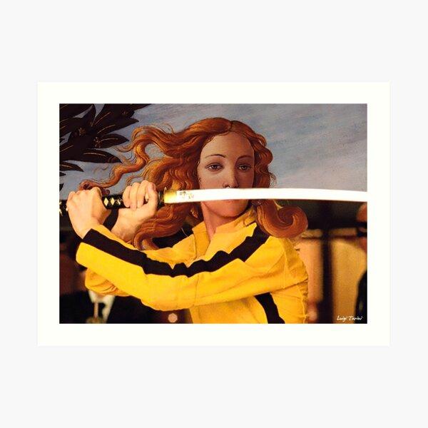 Botticelli Venus & Beatrix Kiddo in Kill Bill Art Print