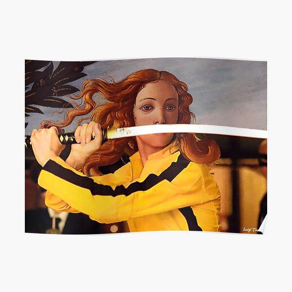 Botticelli Venus & Beatrix Kiddo in Kill Bill Poster