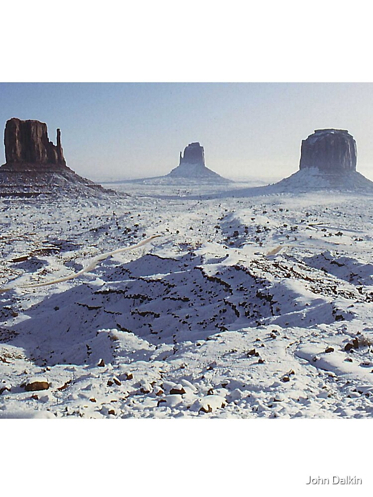 Monument Valley in the snow by JohnDalkin