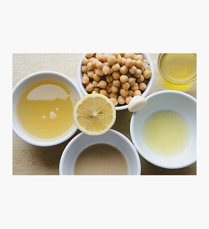 Houmous - Chickpea & Sesame Dip Ingredients Photographic Print