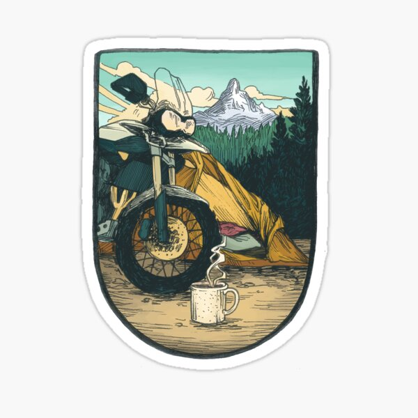 Moto Camp Life Sticker