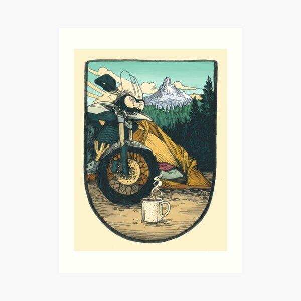 Moto Camp Leben Kunstdruck