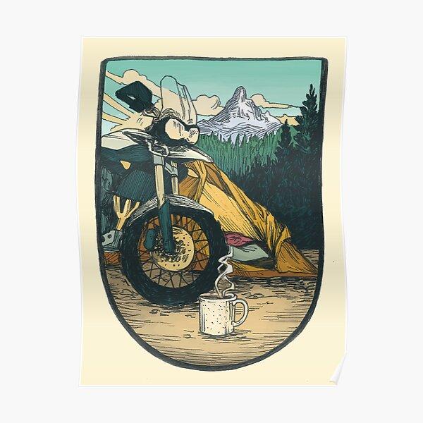 Moto Camp Life Poster