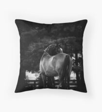 Dark Horse II Throw Pillow