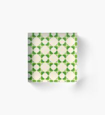 nature romantico yellow happy peace feelings flowers seamless colorful repeat pattern Acrylic Block