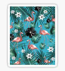 Tropical Flamingo Flower Jungle #2 #tropical #decor #art Sticker