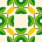 green romance nature pattern yellow romantico feelings seamless colorful repeat by Abrahamjrnd