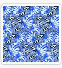 Deep blue nautical pattern with shells Sticker