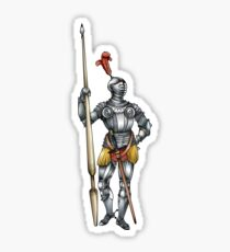 Standing Knight Sticker