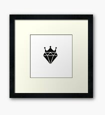 Diamond with Crown Framed Print