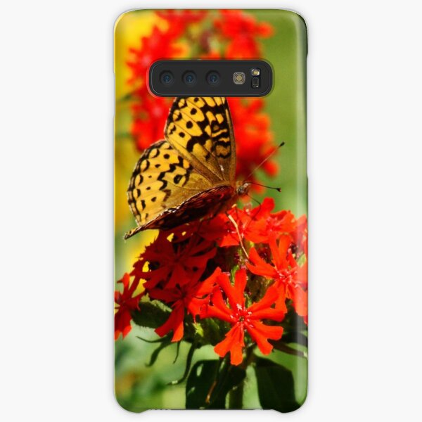 Gold Winged Butterfly on an Orange Flower Samsung Galaxy Snap Case