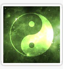 Yin Yang Space Stickers Cute Gift 07  Green Sticker