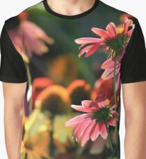 Colorful Coneflowers Graphic T-Shirt