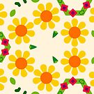 leaves peace romantico seamless colorful repeat pattern by Abrahamjrnd