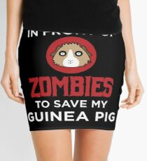 Funny Animal Guinea Pig Tshirt Design I would push you Mini Skirt