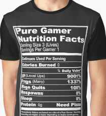 Pure Gamer Nutrition Facts Graphic T-Shirt