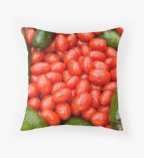 Hot Peppers and Cherry Tomatoes Throw Pillow