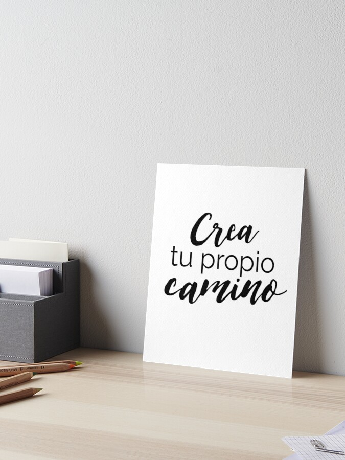 Spanish Quote Motivational Quotes In Espanol Art Board Print By Rebel Us Apparel