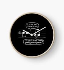 Musical Compliments - Dark Background Clock