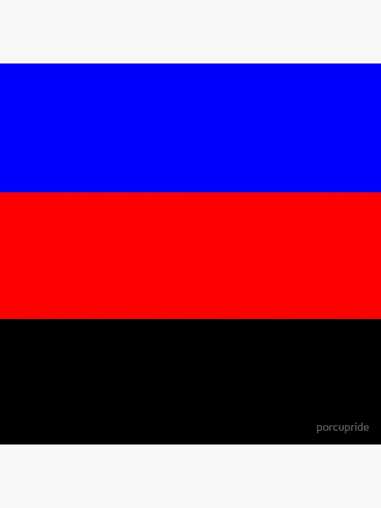 Polyamorous Pride Flag Tote Bag By Porcupride Redbubble The polyamory flag has three stripes—blue, red, and black from top to bottom. redbubble