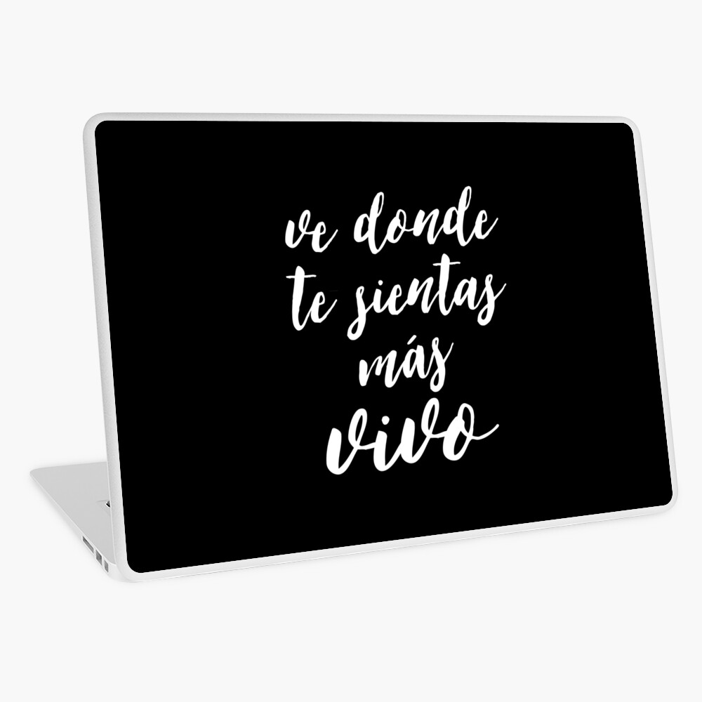 Travel Quotes in Spanish, Inspirational Life Quote | Laptop Skin