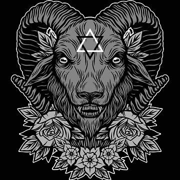 Dark Goat by deniart