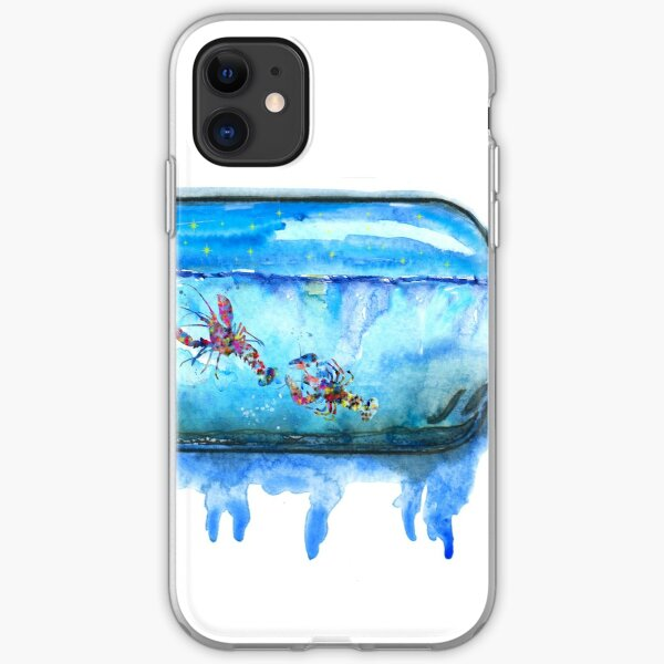 Lobster, watercolor Lobster iPhone Soft Case