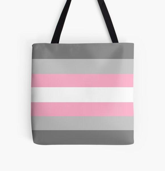 Demigirl Pride Flag All Over Print Tote Bag